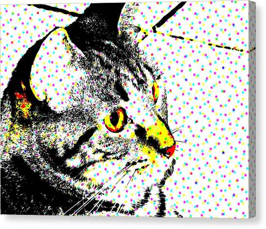 Melvin In Dots Canvas Print