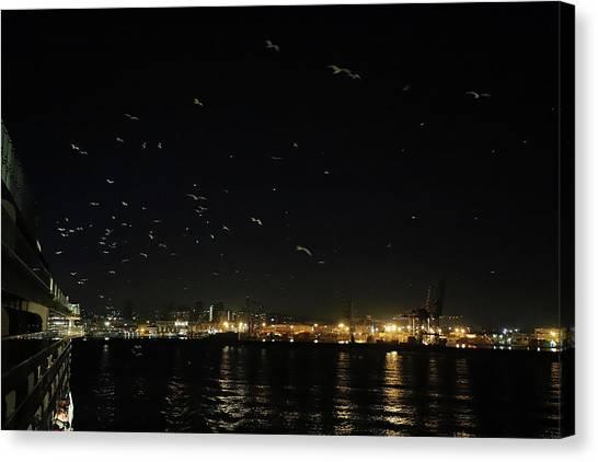 Memorable Naples Evening Departure Canvas Print