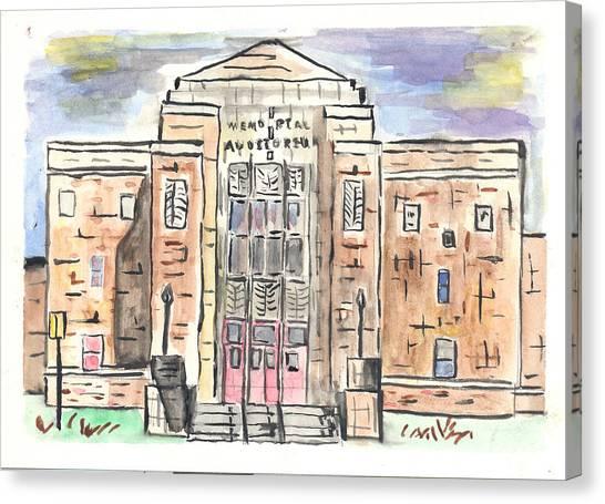 Memorial Auditorium  Canvas Print