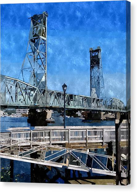 Memorial Bridge Mbwc Canvas Print