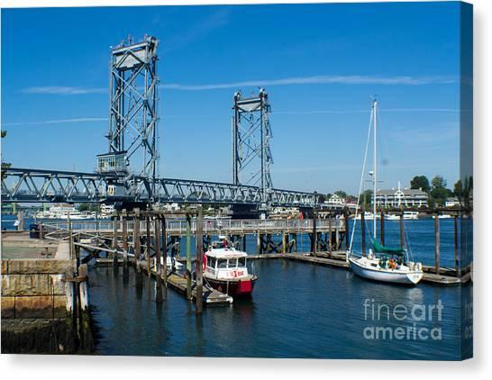 Memorial Bridge Portsmouth Canvas Print