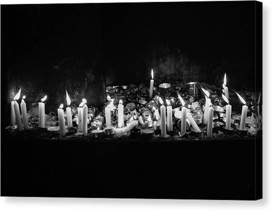 Memorial Candles II Canvas Print