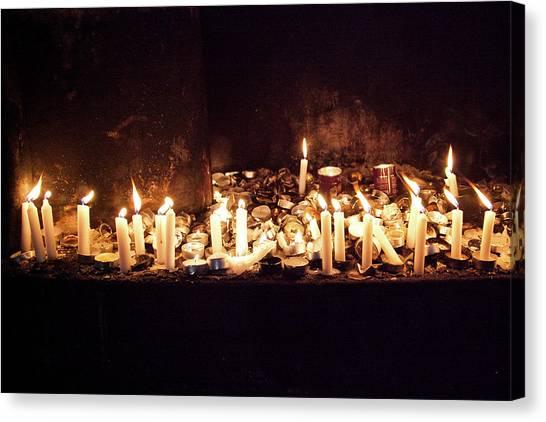 Memorial Candles Canvas Print