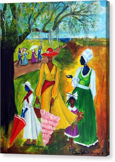 Racism Canvas Print - Memorial Day by Diane Britton Dunham
