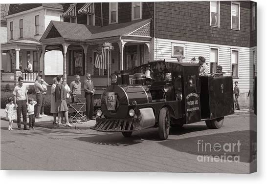 Memorial Day Parade  Ashley Pa  Corner Of W Hartford And Brown  Circa 1965 Canvas Print