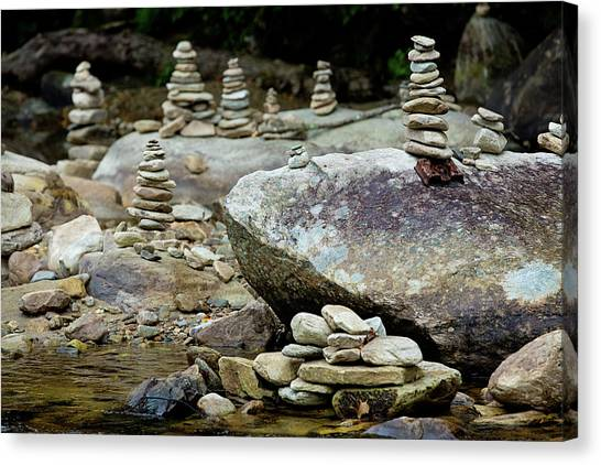 Memorial Stacked Stones Canvas Print