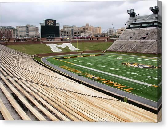 University Of Missouri Canvas Print - Memorial Stadium by Steve Stuller