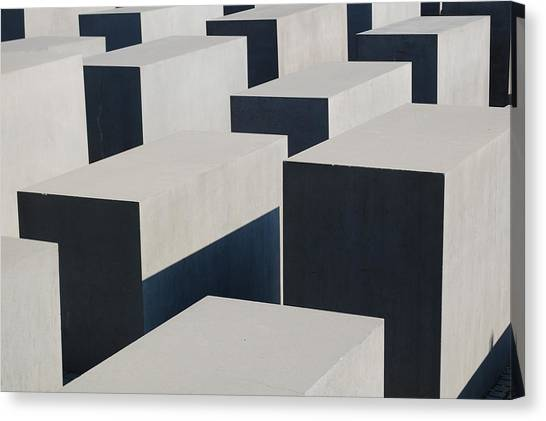 Holocaust Museum Canvas Print - Memorial To The Murdered Jews Of Europe In Berlin by Ann and John Cinnamon