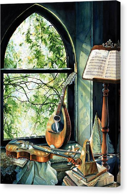 Mandolins Canvas Print - Memories And Music by Hanne Lore Koehler