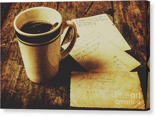 Caffeine Canvas Print - Memories And Past Notes by Jorgo Photography - Wall Art Gallery