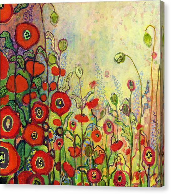 Impressionist Canvas Print - Memories Of Grandmother's Garden by Jennifer Lommers