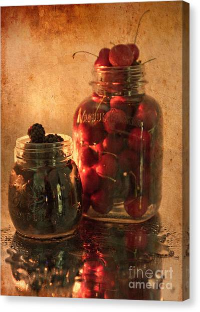 Memories Of Jams, Preserves And Jellies  Canvas Print