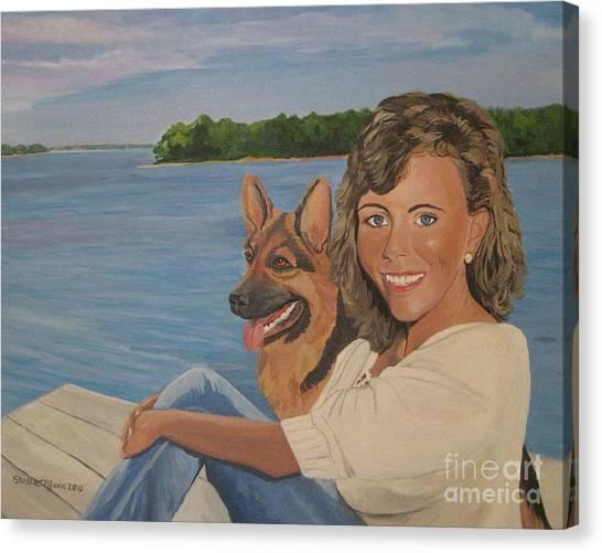 Memories Of Stephanie In Freeport Canvas Print