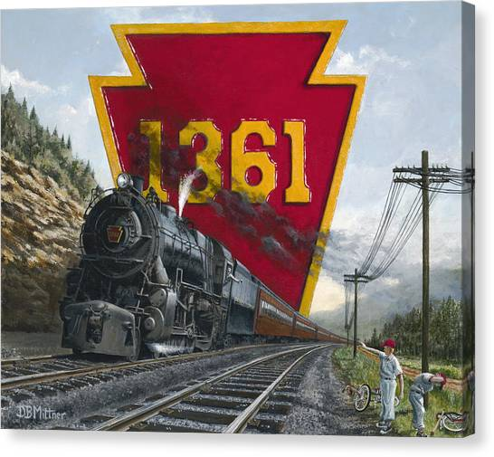 Trains Canvas Print - Memories Relived by David Mittner