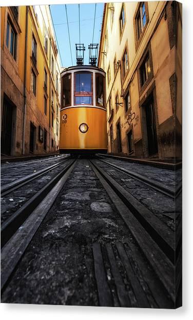 Light Rail Canvas Print - Memory Lane by Jorge Maia