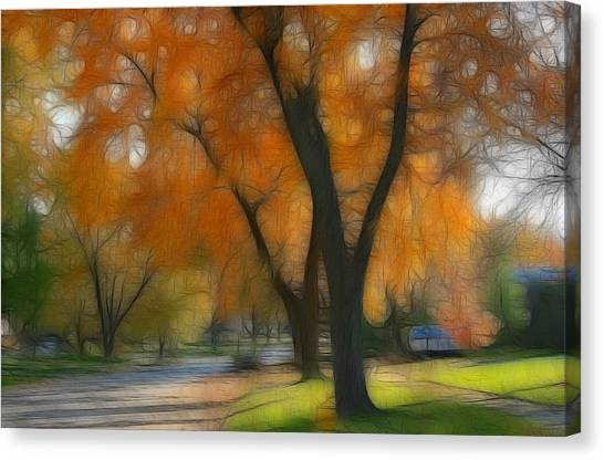 Memory Of An Autumn Day Canvas Print