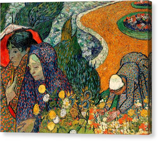 Canvas Print featuring the painting Memory Of The Garden At Etten by Van Gogh