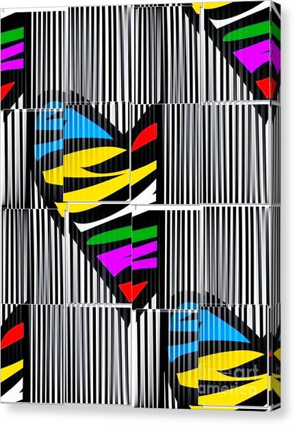 Memory Popart Heart By Nico Bielow  Canvas Print