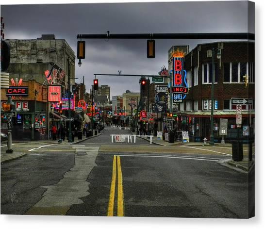 Memphis - Beale Street 001 Canvas Print