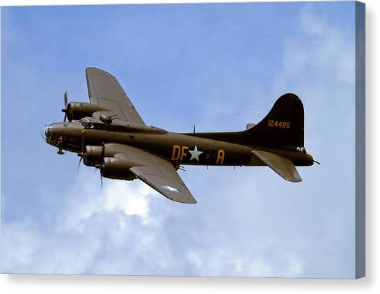 B-17 Canvas Print - Memphis Belle by Bill Lindsay