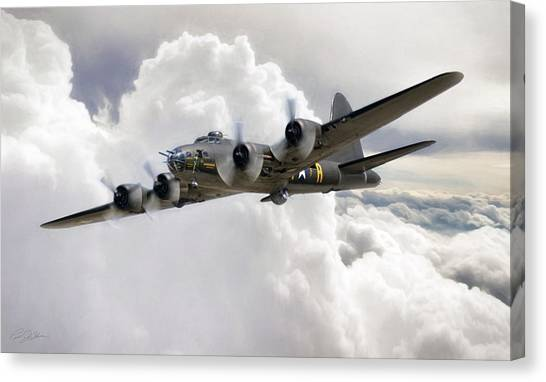 United States Army Air Corps Canvas Print - Memphis Belle by Peter Chilelli