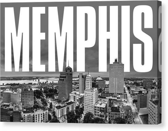 Memphis Grizzlies Canvas Print - Memphis Cityscape by David Richardson