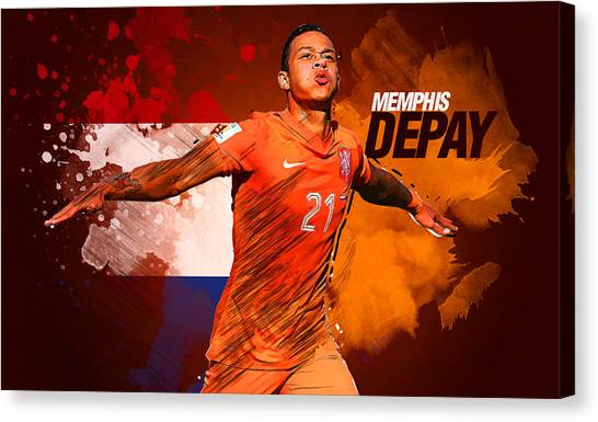 Mls Canvas Print - Memphis Depay by Semih Yurdabak