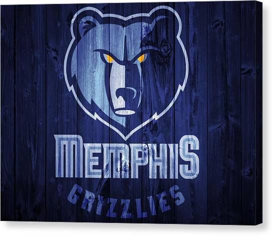 Memphis Grizzlies Canvas Print - Memphis Grizzlies Barn Door by Dan Sproul