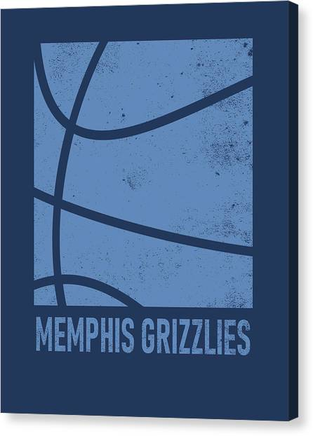 Memphis Grizzlies Canvas Print - Memphis Grizzlies City Poster Art 2 by Joe Hamilton