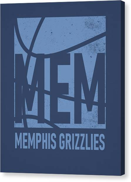 Memphis Grizzlies Canvas Print - Memphis Grizzlies City Poster Art by Joe Hamilton