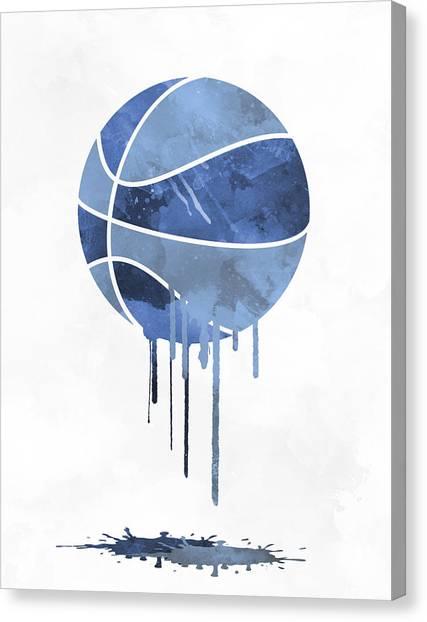 Memphis Grizzlies Canvas Print - Memphis Grizzlies Dripping Water Colors Pixel Art by Joe Hamilton