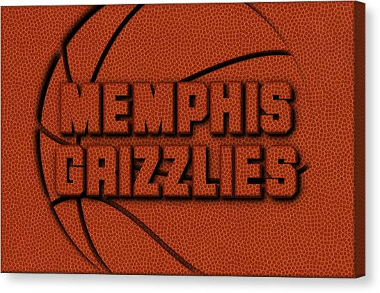 Memphis Grizzlies Canvas Print - Memphis Grizzlies Leather Art by Joe Hamilton