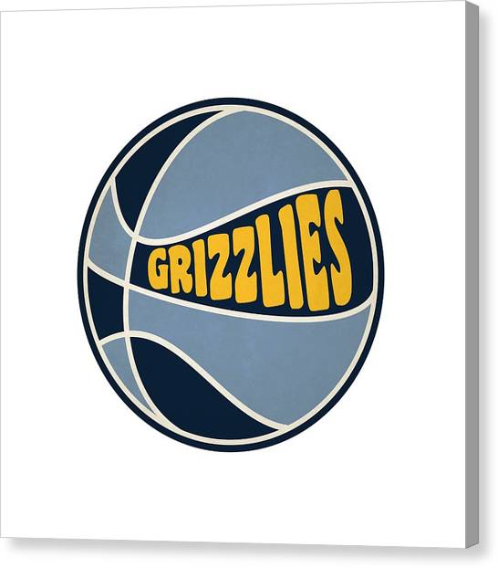 Memphis Grizzlies Canvas Print - Memphis Grizzlies Retro Shirt by Joe Hamilton