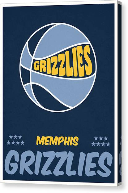 Memphis Grizzlies Canvas Print - Memphis Grizzlies Vintage Basketball Art by Joe Hamilton