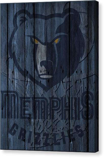 Memphis Grizzlies Canvas Print - Memphis Grizzlies Wood Fence by Joe Hamilton