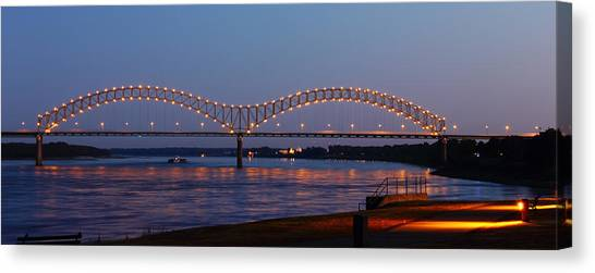 Memphis - I-40 Bridge Over The Mississippi 2 Canvas Print