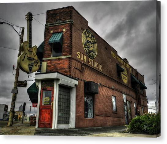 Music Canvas Print - Memphis - Sun Studio 001 by Lance Vaughn