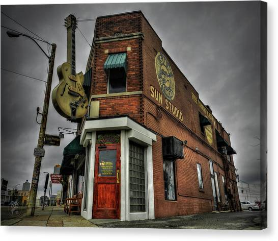 Rhythm And Blues Canvas Print - Memphis - Sun Studio 002 by Lance Vaughn