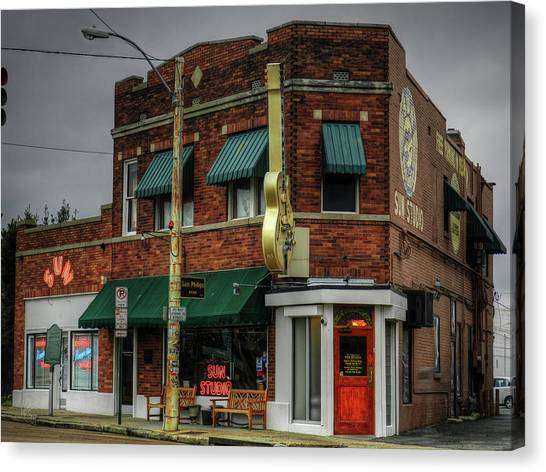 Canvas Print featuring the photograph Memphis - Sun Studio 003 by Lance Vaughn