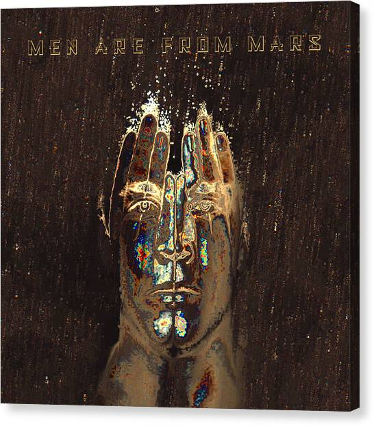 Men Are From Mars Gold Canvas Print