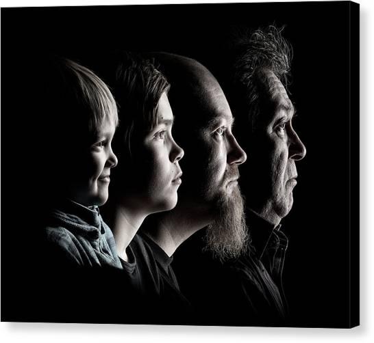 Generations Canvas Print - Men by Petri Damsten