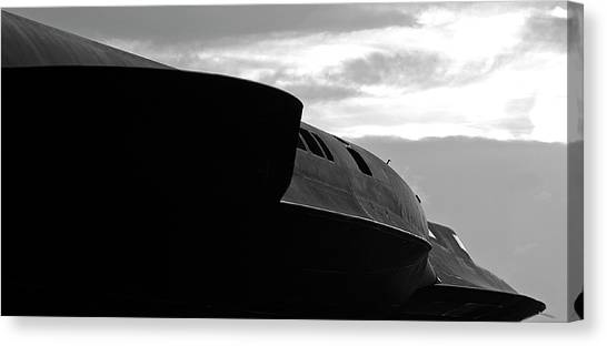 Menacing Blackbird Canvas Print