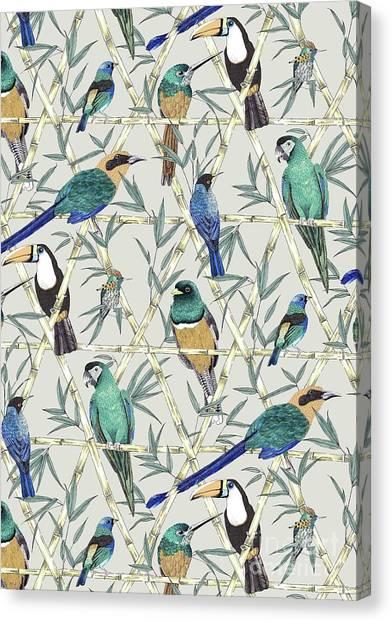 Amazon Rainforest Canvas Print - Menagerie by Jacqueline Colley