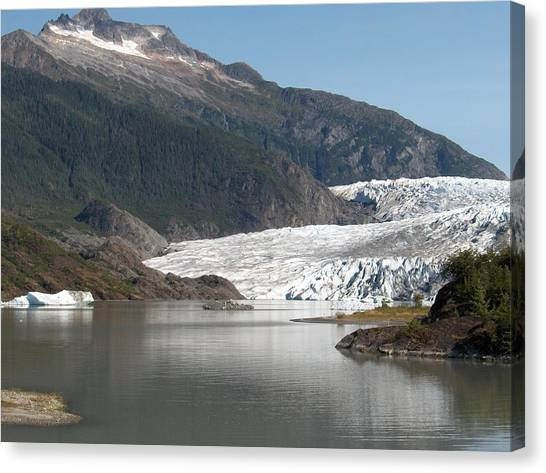 Mendenhall Glacier Alaska Canvas Print by Janet  Hall