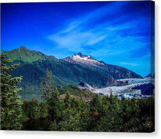 Alaska Canvas Print - Mendenhall Glacier Alaska by Scott McGuire
