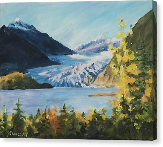Mendenhall Glacier Juneau Alaska Canvas Print