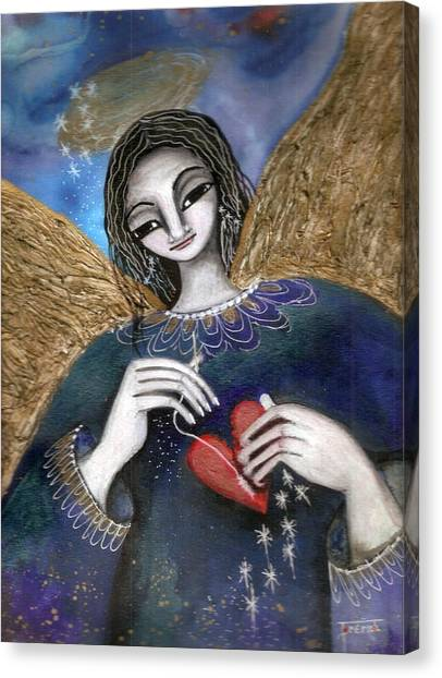 Mender Of Hearts Angel Canvas Print