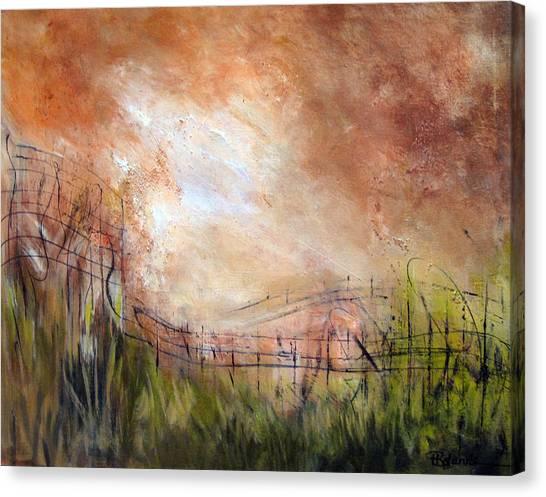 Mending Fences Canvas Print