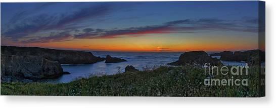 Mendocino Headlands Sunset Canvas Print