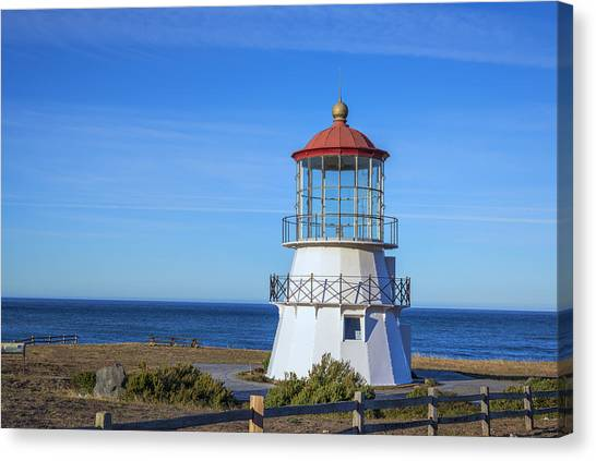 Mendocino Ligthhouse Canvas Print